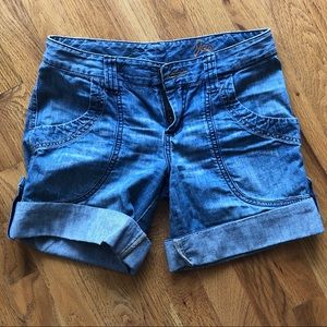 Joie Light Blue Cuffed Denim Shorts